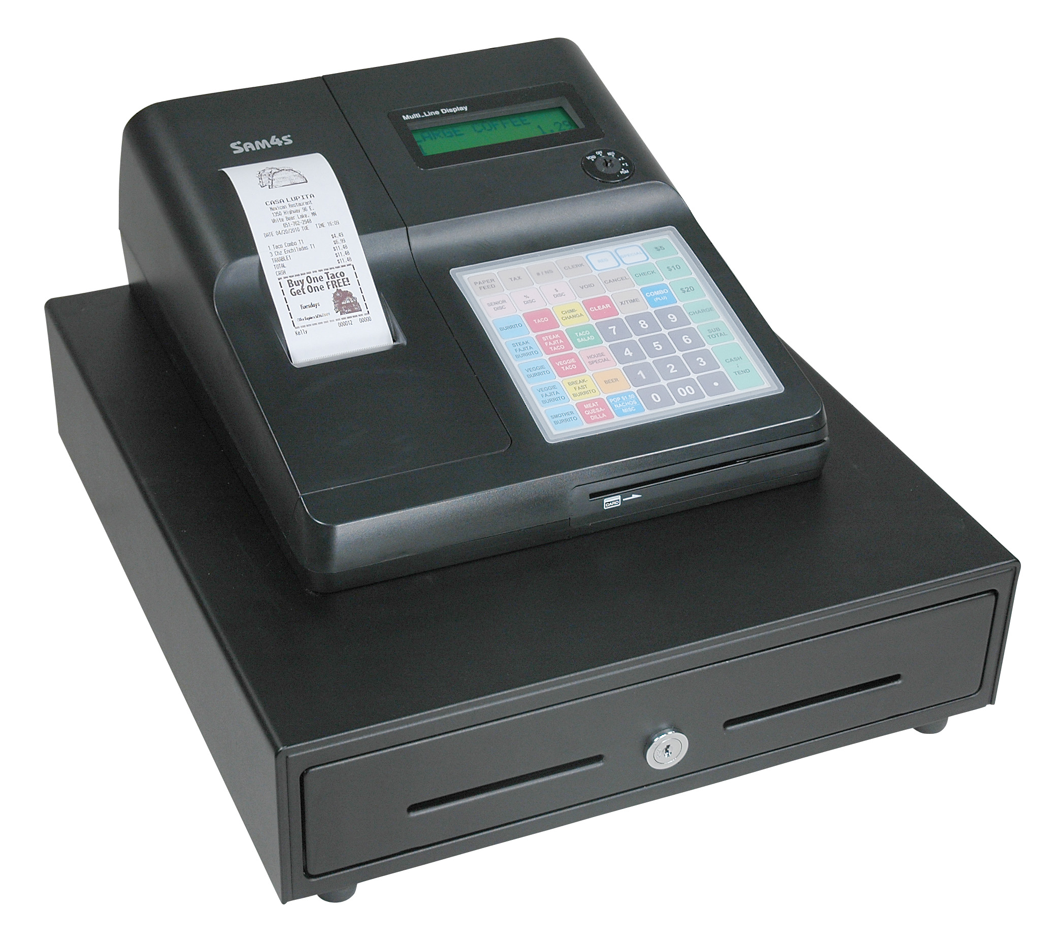 Sam4s ER-285M Cash Register w/Cas SW-10R Scale